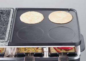 Raclette Grill mit Steinplatte 11