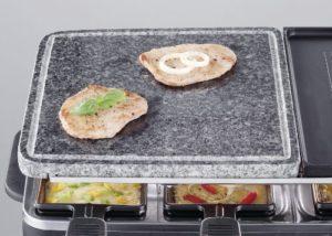 Raclette Grill mit Steinplatte 12