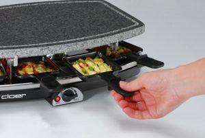 Raclette Grill mit Steinplatte 21