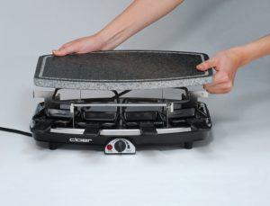 Raclette Grill mit Steinplatte 22