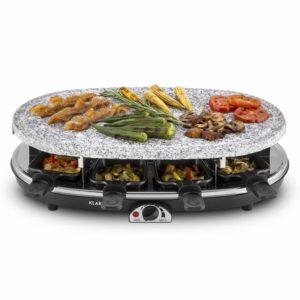 Raclette Grill mit Steinplatte 31