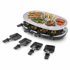 Raclette Grill mit Steinplatte 32