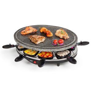 Raclette Grill mit Steinplatte 4