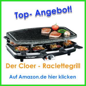 raclette grill mit steinplatte klicker
